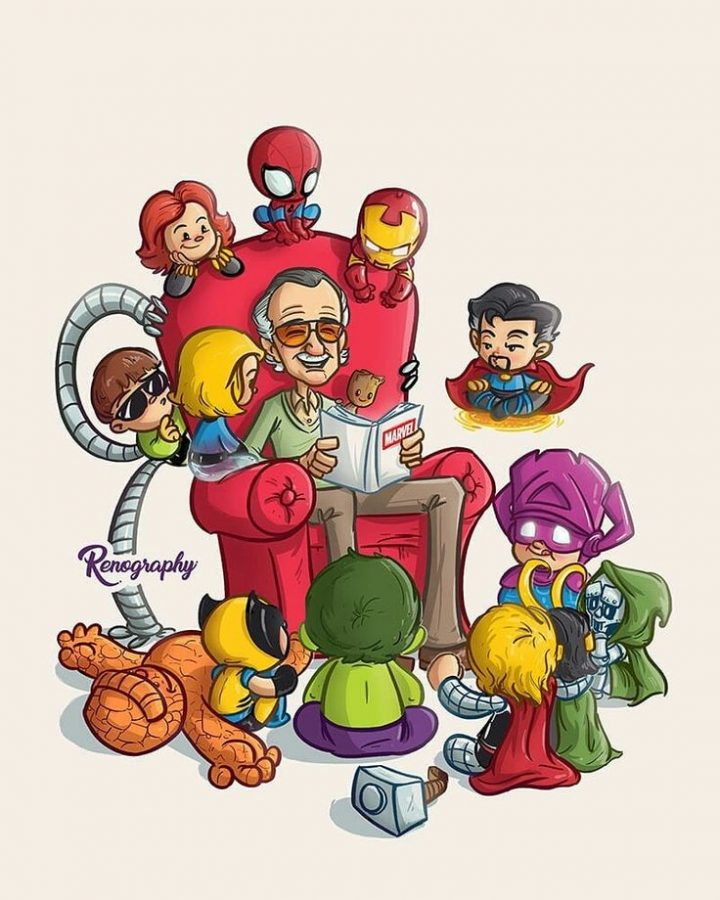 "Renato Barrantes on Instagram: ""Keep telling such good stories. Thanks, Stan Lee. 💛 Based on an illustration of the great @skottieyoung ✏ ➡ Sliding the image … """