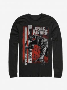 Marvel Black Panther Panther Night Long Sleeve T-Shirt