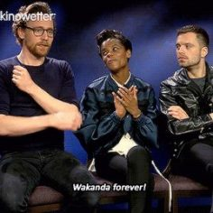 """How much were you a Black Panther fan?"" Gif-se …"