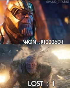 What a supehero fight against Thanos you like …