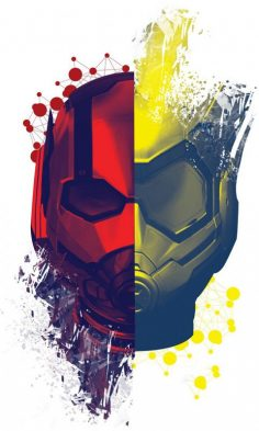 Ant-Man and the Wasp, movie, helmets, face to face, po …