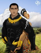 Black Panther and Cahnartist.devian storm … i …