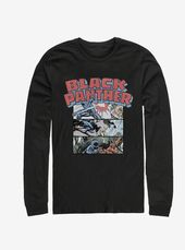 Marvel Black Panther Black Panther Collage Long Sleeve T-Shirt