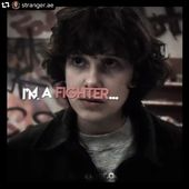 """I'm a fighter""🥊 *stranger.ae* (Instagram)"