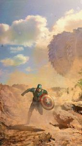 Captain America Concept Art iPhone Wallpapers