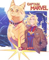Captain Marvel and Goose