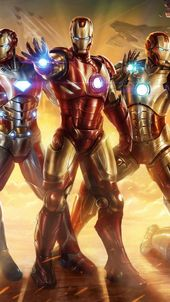 Iron Man Squad iPhone wallpaper