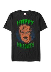 Marvel ™ Big & Tall Captain America Big Face Happy Halloween Short Sleeve Graphic T-Shirt