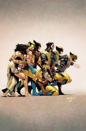 The evolution of Wolverine by David Márquez